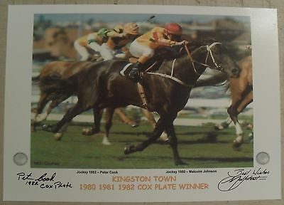 KINGSTON TOWN COX PLATE signed Print