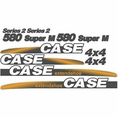 Whole Decal Set Series 2 & 4 x 4 for Case 580 Super M Extendahoe Backhoe Loader