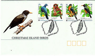 2002 Christmas Island Land Birds FDC