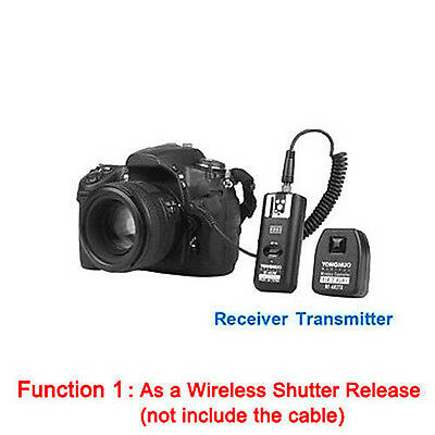 YONGNUO RF-602 2.4GHz Wireless Remote Flash Trigger with Studio Cord for Nikon