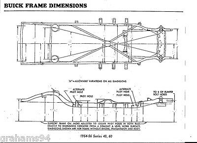 1953 Buick Series 40 50 70 NOS Frame Dimensions Align