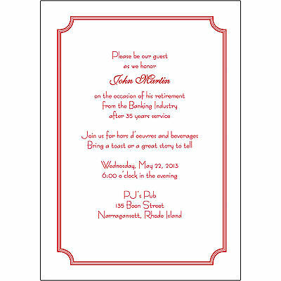 25 Personalized Retirement Party Invitations Rpit 07 Decorative
