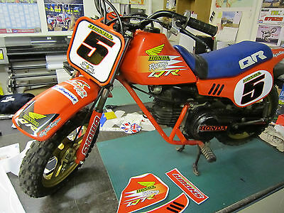 honda qr50 graphics full kit decals qr 50 stickers your name and number