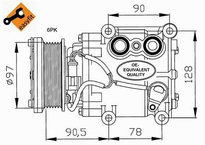 Fit with FORD Focus NRF Compressor 32199 2L
