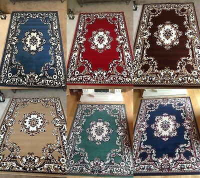 Traditional Rug Runner Classic Chinese Design Floral Soft Low Pile Large Mat