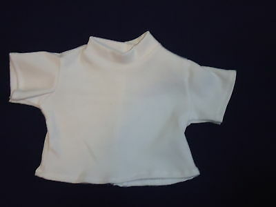"White t- shirt for American Girl or an 18""Doll"