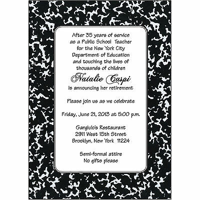 20 custom retirement party invitations police policeman 15 50