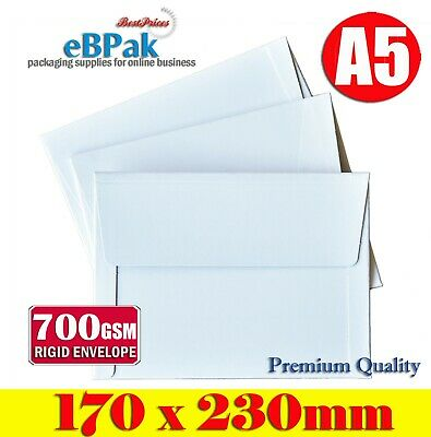 100 Size 170x230mm - A5 Document RIGID Mailer - Hard Envelope for Photo Film