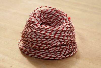 100m - Red & White Bakers, Butchers, Craft, Parcel String Twine