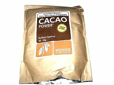 POWER SUPER FOODS 500g CACAO POWDER Mayan Superfood Organic Pure Raw Chocolate