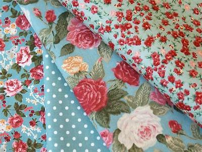 Large floral Bunches By Riley Blake 100/% Cotton Quilting Dress Bunting FQ Meter