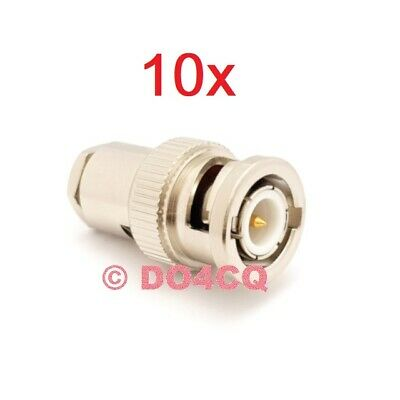 10er Pack BNC Stecker ( 50 Ohm ) für RG58 Lötversion