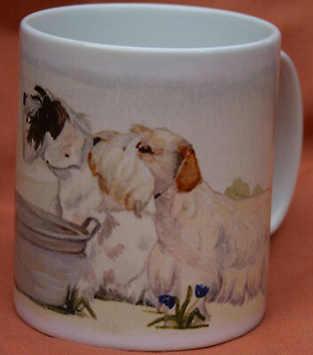 SEALYHAM TERRIER DOG MUG Off to the Dog Show painting Sandra Coen artist print