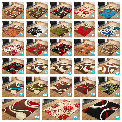 High Quality Small To Extra Large Brown Green Red Black Blue Hand Carved Rugs