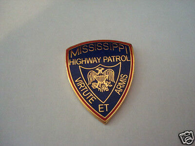 MISSISSIPPI State Highway Patrol police mini patch HAT PIN