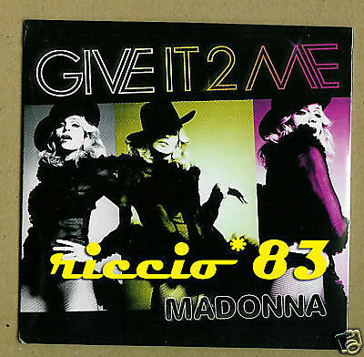 Madonna Give It 2 Me CDS CARDSLEEVE GIVE IT TO ME SINGL