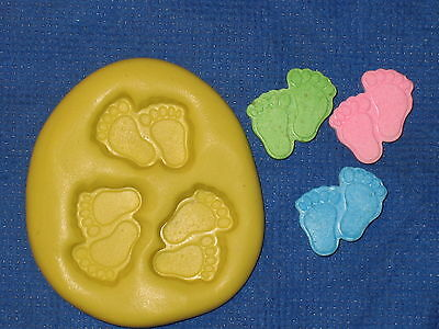 Baby Feet Push Mold Resin Food Safe Silicone #655 Scrapbooking Baby Shower Soap