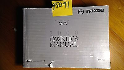 00 2000 mazda mpv owners manual 9 90 picclick rh picclick com mazda mpv 2000 user manual 2002 Mazda MPV Reliability