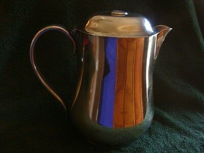 Sant Andrea Silver Plate Coffee Tea Pot Water Pitcher Made in Italy Heavy Duty