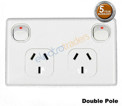 Power Point Double Pole 10 Amp GPO Outlet Caravan RV Trailer Construction