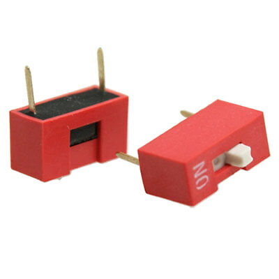 20 Pcs 1 Position 2P Side Style DIP Switch Red