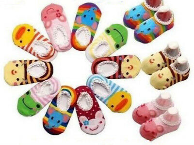 Cute Baby Kids Toddler Ankle Low Cut Socks Non-slip Booties Buy 5 Get 1 For Free