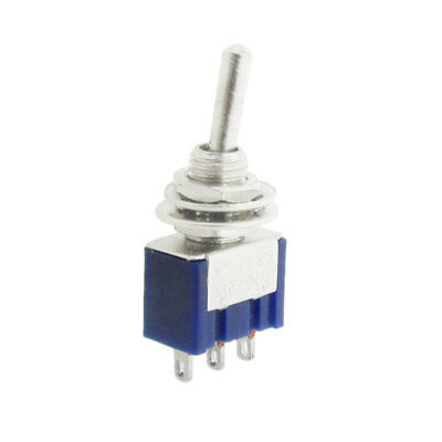 AC 125V 6A ON/ON 2 Position 1P2T SPDT 3 Pins Miniature Toggle Switch 10 Pcs