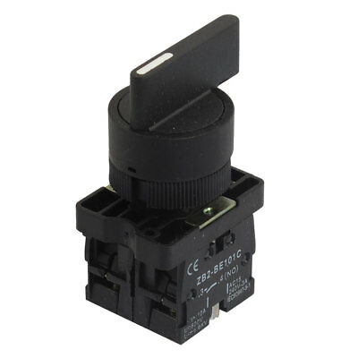 22mm Latching 2 NO Long Handle 3-Position Rotary Selector Switch ZB2-EJ33