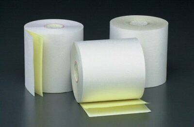 "3"" x 90' 2-PLY CARBONLESS PoS RECEIPT PAPER - 50 NEW ROLLS  ** FREE SHIPPING **"
