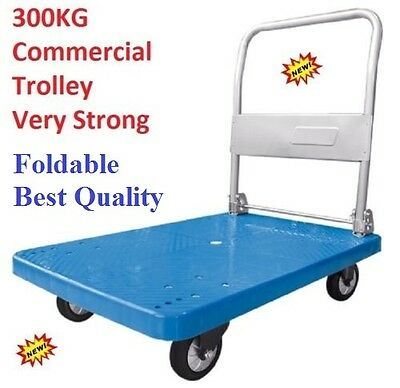 300kg Folding Heavy Duty Platform Trolley Hand Truck Foldable Cart Industrial