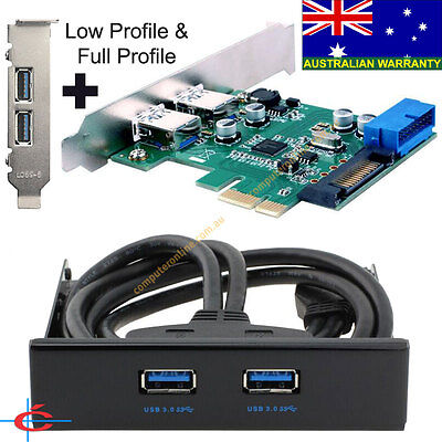 "USB 3.0 Card 2 Back + 2 Ports with 3.5"" USB 3.0 Front Panel Bay + Low Profile"