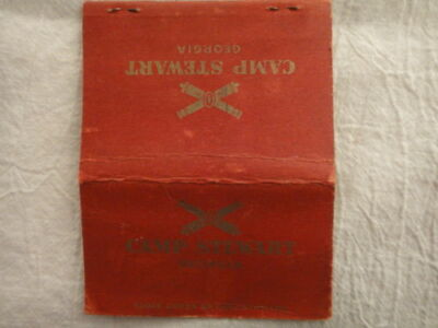 WWII Matchbook Cover Camp Stewart Georgia Postcard Style Oversize