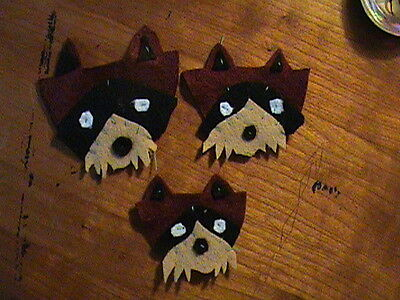 MOONRISE KINGDOM  Handmade RACCOON PATCHES  Wes Anderson *