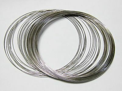 Memory Wire about 50 Loops Necklace Choker Collar 115mm