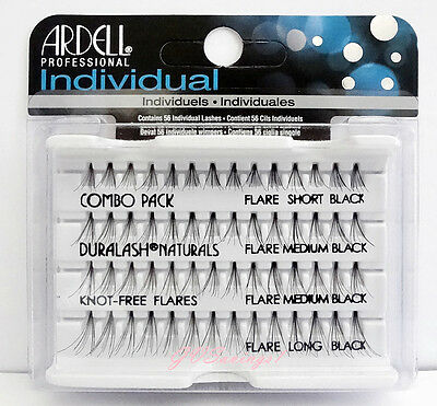 Ardell Duralash NATURALS Flare COMBO PACK Individual Eyelashes Lashes AUTHENTIC