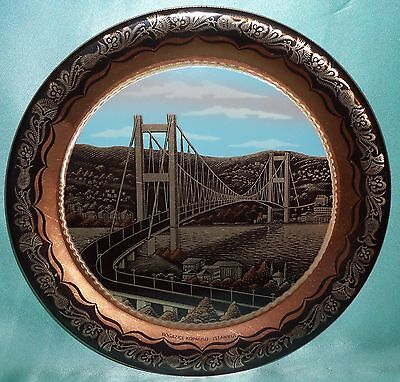 ~ Collectable ~ Istanbul Souvenir Copper Hanging Wall Display Plate ~ Vintage ~