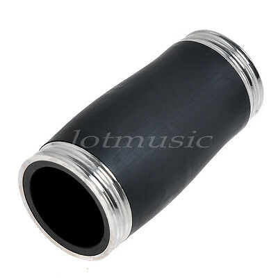 Black Hard Bakelite Clarinet Barrel Joint Silver Plated 65mm High Quality