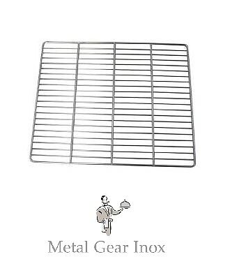 Grilles inox GN 2/1 ( 650 x 530 mm)  ( Lot de 5 ).