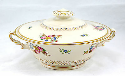 Syracuse Old Ivory COVENTRY Round Covered Vegetable 8.625 in. Flowers Cream Gold