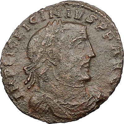 LICINIUS I Constantine I enemy 312AD Ancient Roman Coin JUPITER Cult  i30945