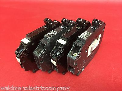 One - 15 Amp 1 Pole Thin General Electric GE Breaker Type TQP115 THQP