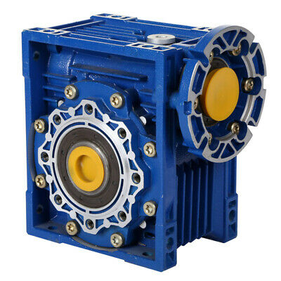 Size 90 Right Angle Worm Gearbox 100:1 Ratio 28 RPM Motor Ready Type NMRV