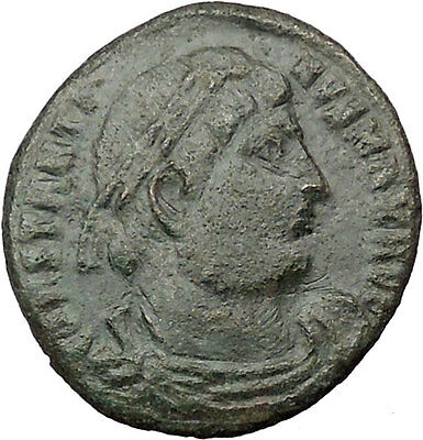 Constantine I The Great 324AD Authentic Ancient Roman Coin Wreath  i31584