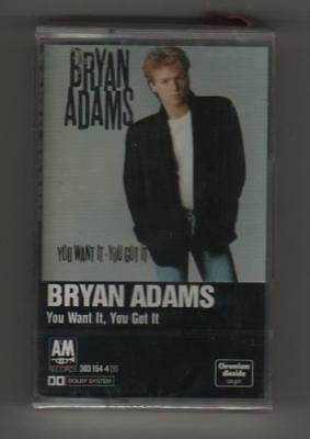 Bryan Adams - You Want It, You- Musicassetta. Originale