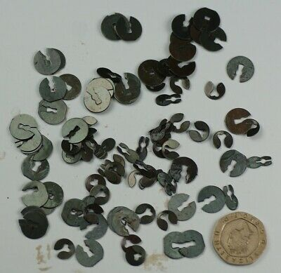 100x SPLIT WASHERS CLOCK PARTS CLOCKMAKERS spares jumping washer repairs clocks