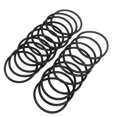 20 Pcs Flexible Rubber O Ring Seal Washer Black 50mm x 3.1mm
