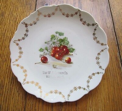 Antique Wibaux Montana Advertising Plate W.A. Orgain Company Cherries Fruit