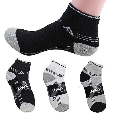 4-12 Pairs Ankle Quarter Crew Low Cut Mens Socks Sports Casual Stripe Triangle