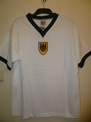 Bnwt West Germany Home Retro SS 1972 Olympic Football Shirt