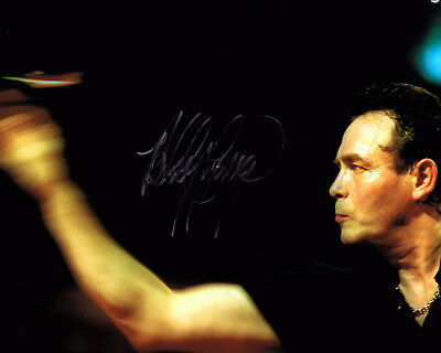 BOBBY GEORGE Darts Player HAND SIGNED Autograph 10x8 Photo AFTAL Authentic COA